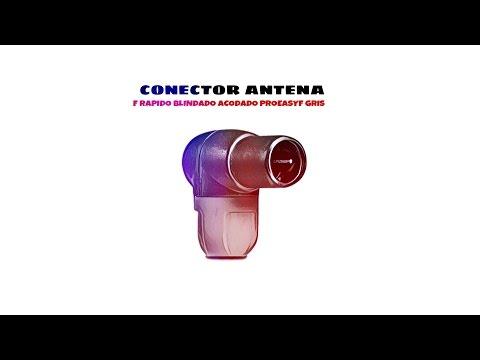 Video de Conector F rapido blindado acodado PROEasyF  Gris