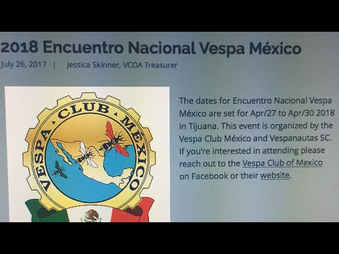 LIVE BRAODCAST from 2018 Encuentro Nacional Vespa Mexico Rally