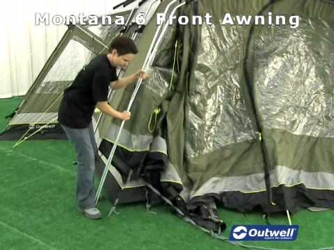 Outwell Montana 6 Front Awning & Outwell Montana 6 Front Awning - YouTube