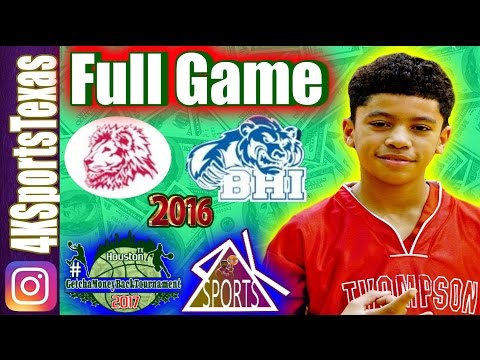 (7B) Thompson vs Beverly Hills Intermediate | Full Game 12/5/16 | Middle School Basketball
