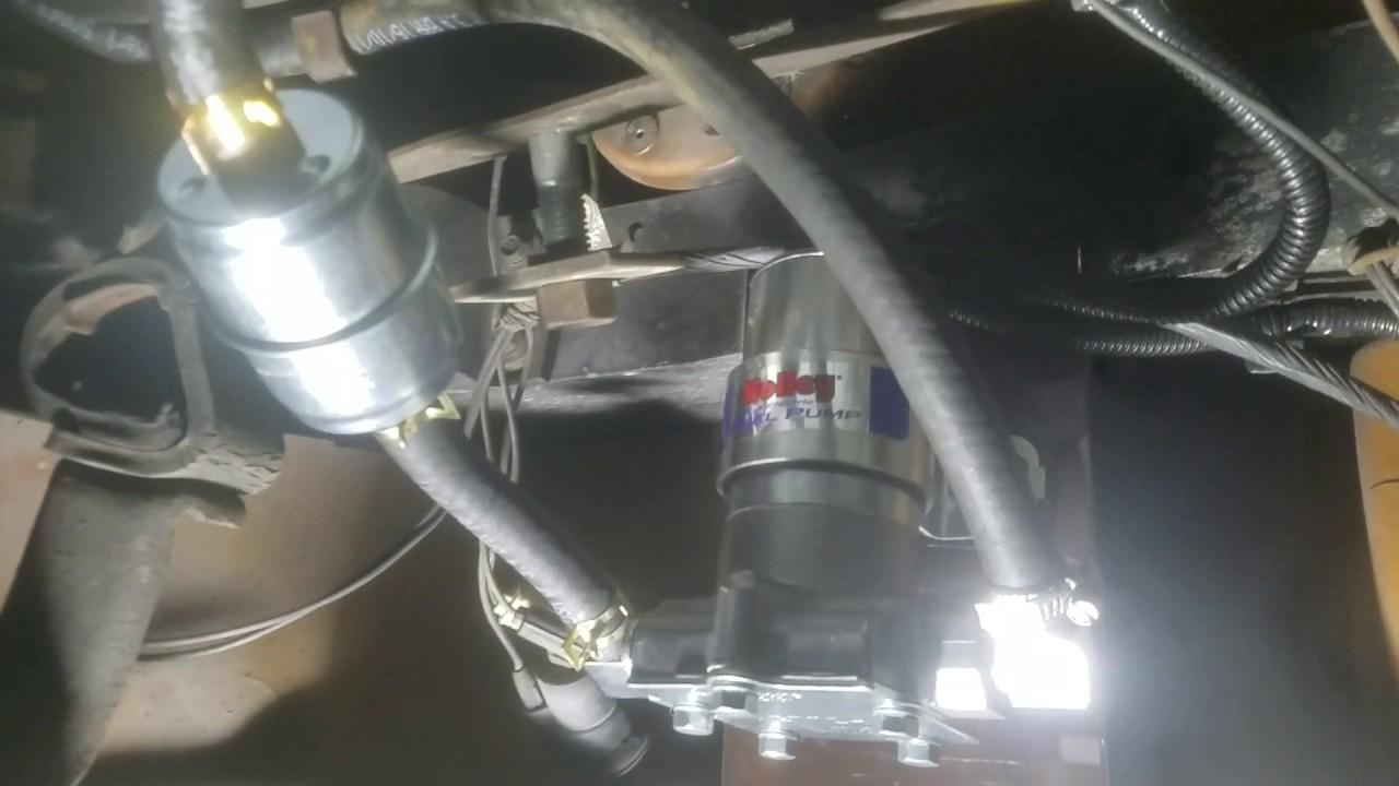 small resolution of holly fuel pump on 1974 c3 corvette youtube rh youtube com 1994 corvette fuel pump corvette fuel filter regulator