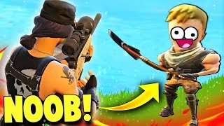 THE WORLDS BIGGEST NOOB ON FORTNITE...(Fortnite Battle Royale Funny Moments)