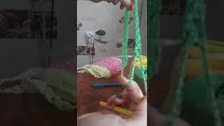 Как вязать манжет для мочалки