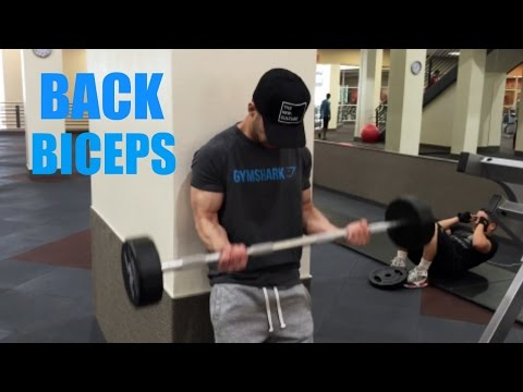 MY BACK AND BICEPS WORKOUT