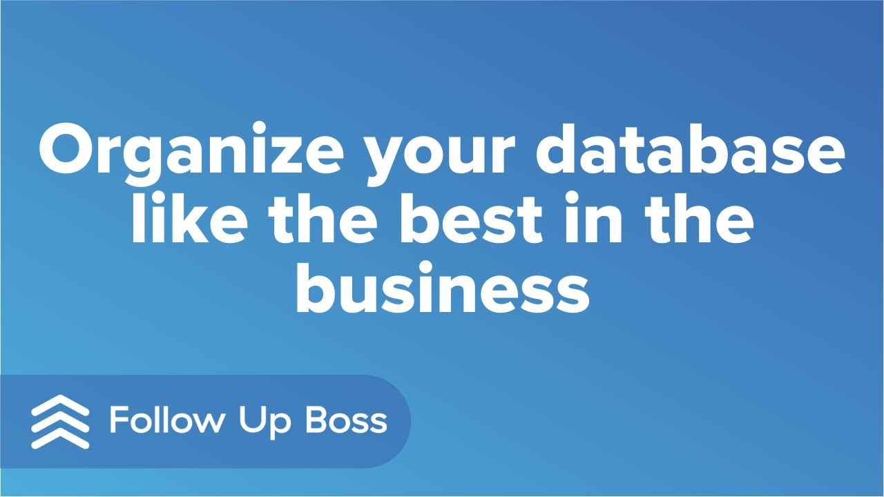 Organize your database like the best in the business