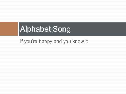 Lesson 1:  Alphabet and Syllabification