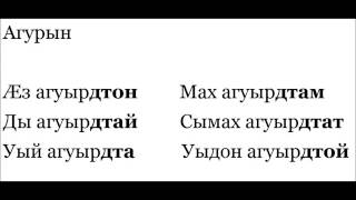 Ossetian lesson XX: Past tense forms of transitive verbs