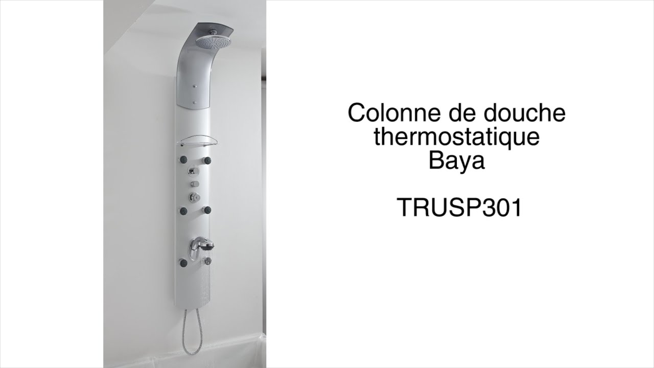 colonne de douche thermostatique baya youtube. Black Bedroom Furniture Sets. Home Design Ideas