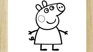 COMO DESENHAR A PEPPA PIG (FÁCIL) /// HOW TO DRAW PEPPA PIG (EASY)