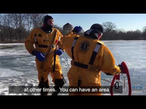 Philly Police Department's Marine Team Trains For Frozen Rescues