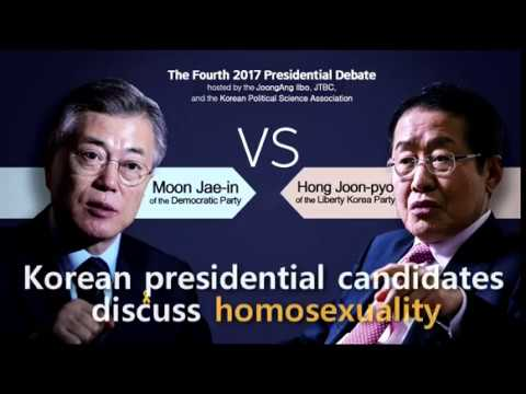Korean presidential candidates discuss gay rights