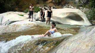 Natural Rockslide Waterfalls in Sequoia National Forest, CA