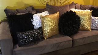 Updated Living Room Tour (black And Gold Glam)