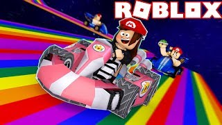 RACES TO LIFE OR DEATH in ROBLOX! (Mario Kart)🚗