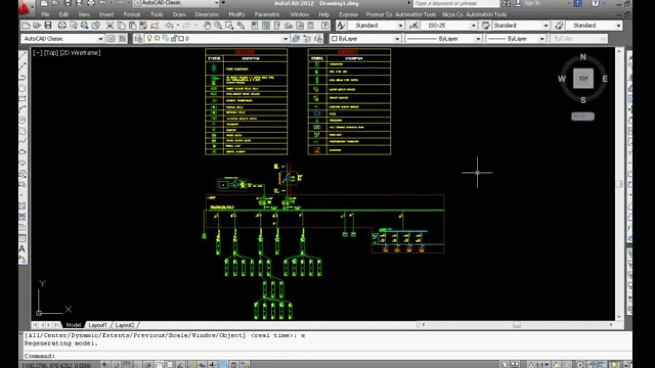 Example of automatic drawing in AutoCAD by VBA (Electrical Concept)