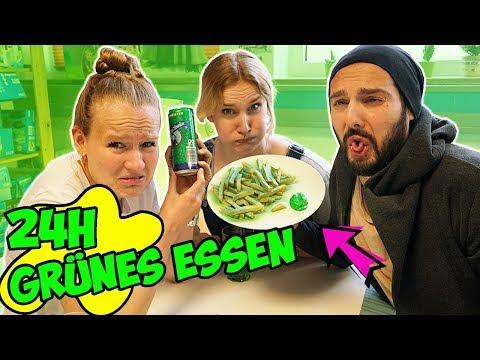 24 STUNDEN NUR GRÜNES ESSEN - Kathi, Nina & Kaan mampfen NUR GRÜNZEUG den ganzen Tag lang | Vlog