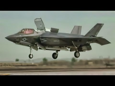 F-35 Fighter Jet Footage - Vertical Landing