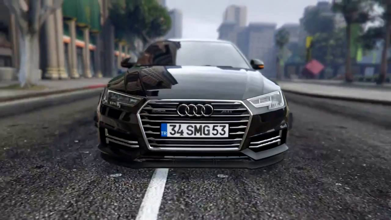 [GTA-V] Audi A4 2017 Showcase Mod - YouTube