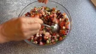 Винегрет с пророщенной фасолью и тушеными овощами Рецепт винегрета.(Как сделать винегрет более полезным для организма. Винегрет с пророщенной фасолью. Готовим витаминный..., 2015-09-13T11:01:40.000Z)