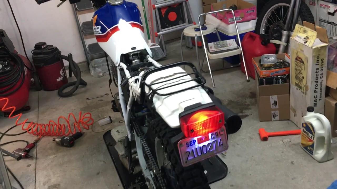 1987 Honda XL600R Start Up with XR600R Engine