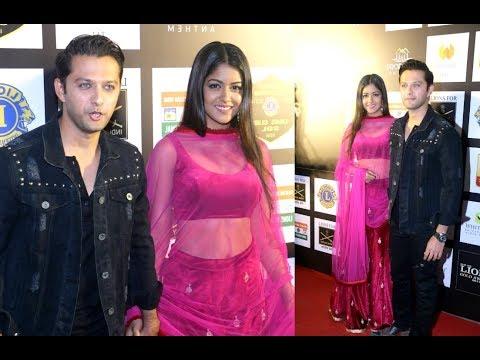 Newly married Vatsal Seth And Ishita Dutta At Lions Gold Awards 2018 Red Carpet