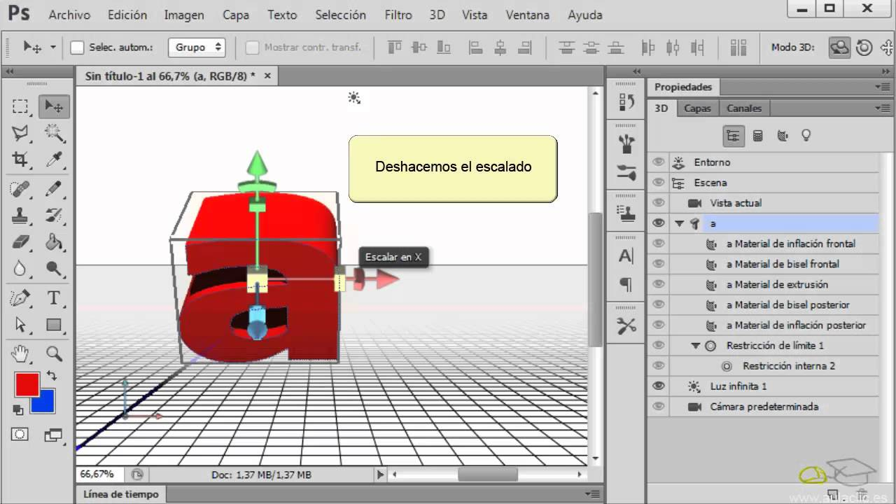 Curso De Photoshop Cs6 18 1 Objetos 3d Crear Mover Y Rotar Youtube