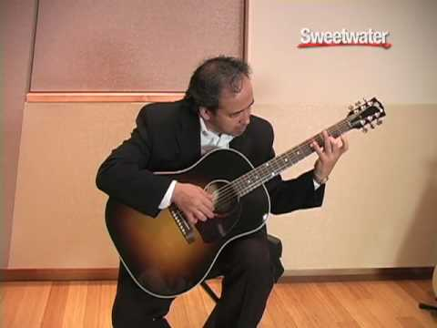 gibson j 45 standard acoustic guitar demo sweetwater youtube. Black Bedroom Furniture Sets. Home Design Ideas