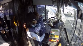 Bus Driver Comforts Crying Child After Mother Has Seizure on the Street
