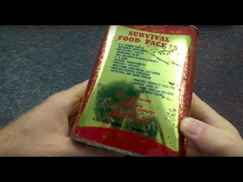 MRE Review 1943-51 WW2 Coast Guard Survival Food Pack Ration #5 Near Mint Condition