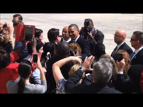 President Obama Arrival At JFK Airport