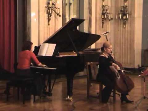 Shostakovich cello sonate Op.40, 2.mov    Sanja Jancic-cello,Aurelie Tremblay-piano