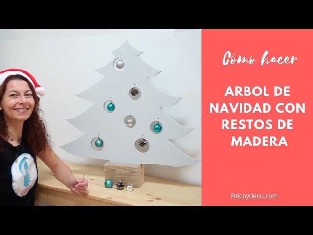 Árbol de Navidad de madera |  Decoración Navideña DIY