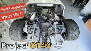 DÉMARRAGE ET POSE DU MOTEUR V8, FEAT COUPABLE ! [GT40 project #42]