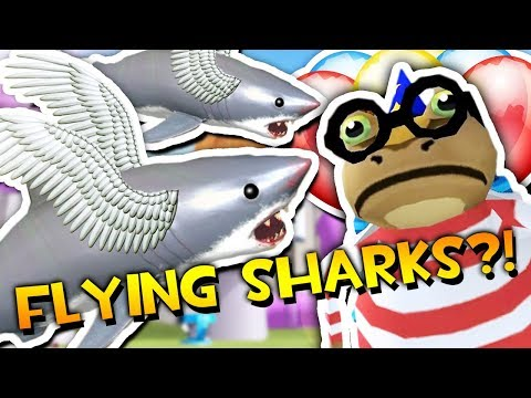 FLYING SHARKS SET LOOSE ON THE CITY?! | Amazing Frog ADVENTURES