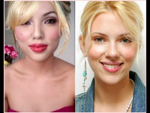 Scarlett Johansson Make Up Transformation Youtube