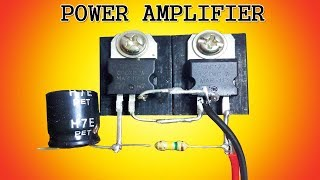Mini power audio amplifier circuit using 2 transistors
