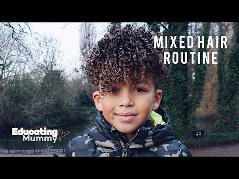MIXED KIDS CURLY HAIR ROUTINE | Educating Mummy