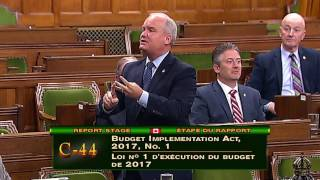 Bill C-44: Budget Implementation Act (June 5, 2017)