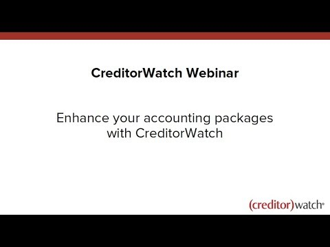 Integrate your accounting packages with CreditorWatch