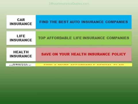 Find The Best Car Insurance, Life Insurance, Health or Dental Insurance
