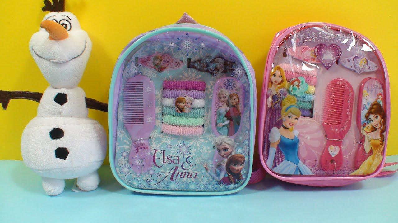 Disney Hair Kit Backpack Frozen Elsa Anna & Disney Princess ...