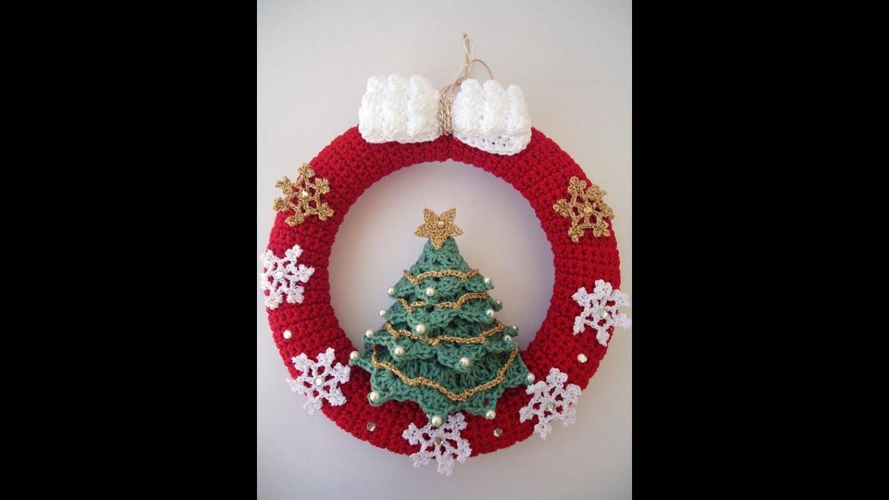 Christmas Special Crochet Wreath Design Youtube