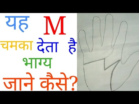 Meaning of m in hand. Meaning of m letter on palm. Palmistry in hindi