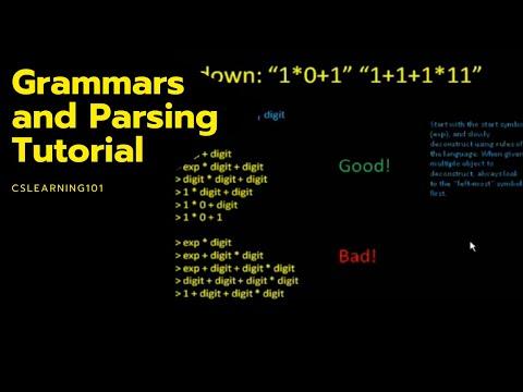 Grammars And Parsing Tutorial