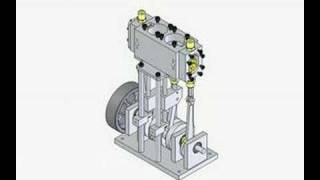 Animation moteur à vapeur / Steam Engine Drawing