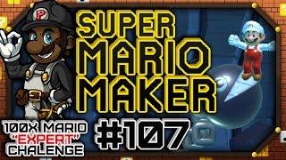 """Super Mario Maker #107 - 100 Mario Expert Courses   """"Dr. Mario Malpractice"""""""