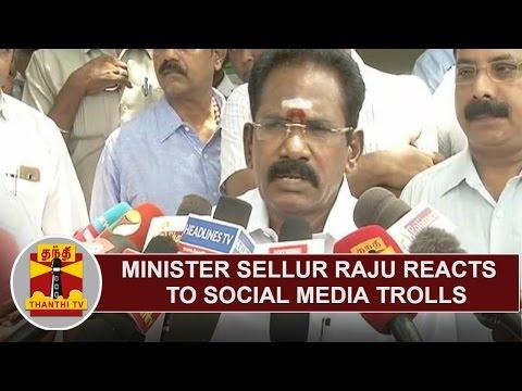 Minister Sellur K. Raju reacts to Social Media Trolls   Thanthi TV