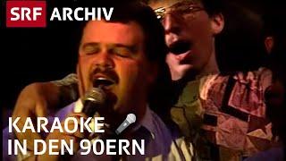 Karaoke in den 90ern | Schweizer beim Feiern |  SRF Archiv