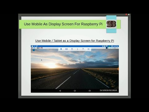 How To Use Mobile | Tablet As Display Screen For Raspberry Pi