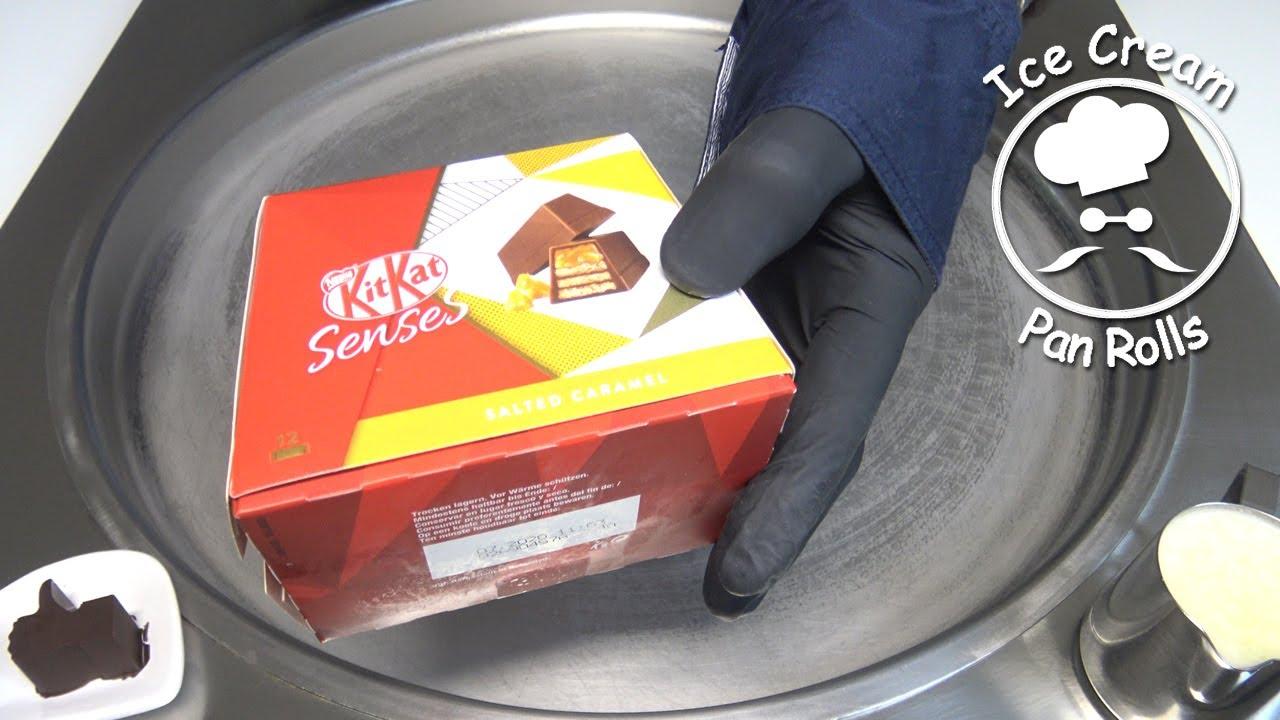 KitKat Senses Salted Caramel Ice Cream Rolls fried ice cream rolled ice cream how to make kitkat ice